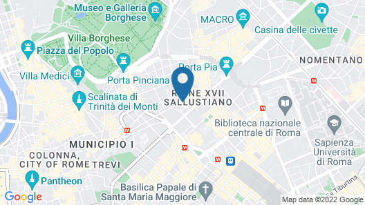 UNAWAY Hotel Empire Roma Map