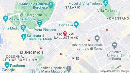The Baileys Hotel - Rome Map