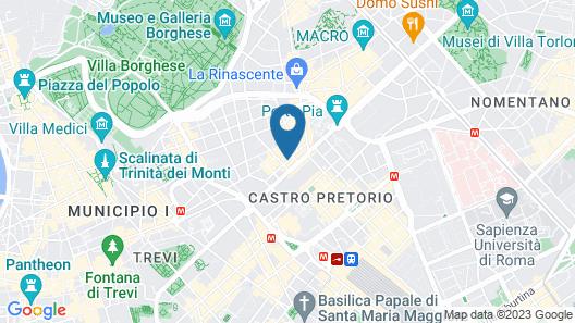The Baileys Hotel - Rome Map