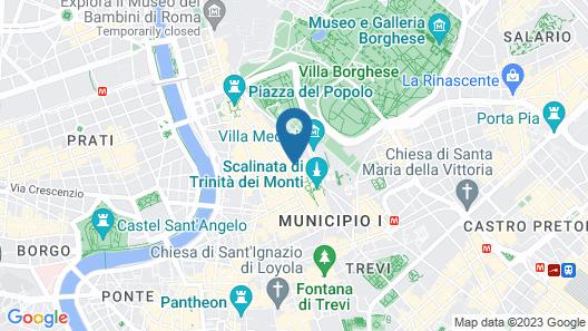 Hotel Manfredi Suite in Rome Map