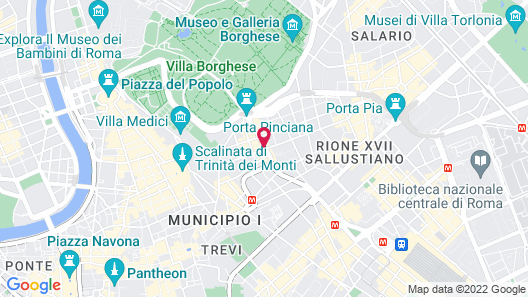 The Westin Excelsior, Rome Map