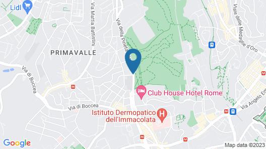 Pinewood Hotel Rome Map