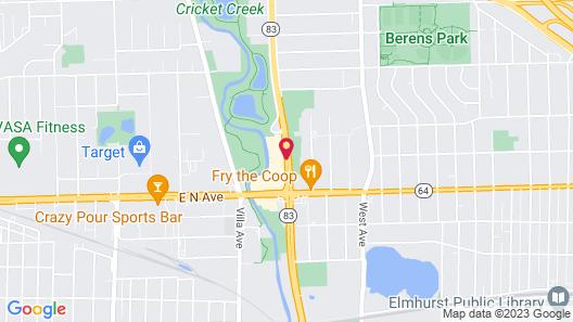 Courtyard Chicago Elmhurst/Oakbrook Area Map