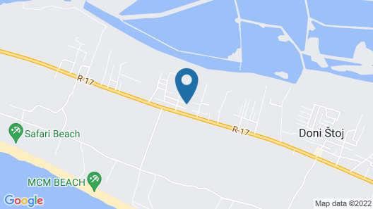 Rajana Bungalow - Ulcinj Map