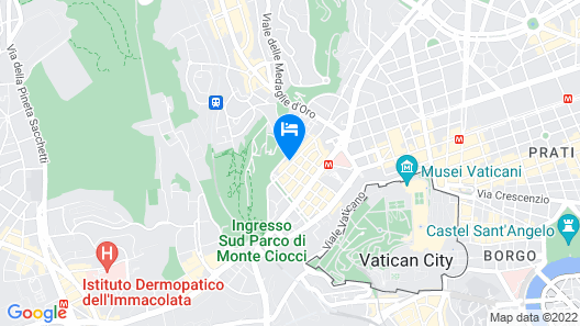 Vatican Suites Accommodation Map
