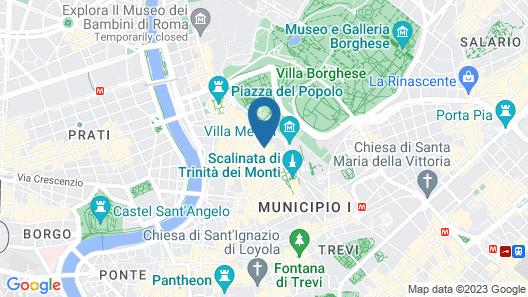Hotel Art by the Spanish Steps   UNA Esperienze Map