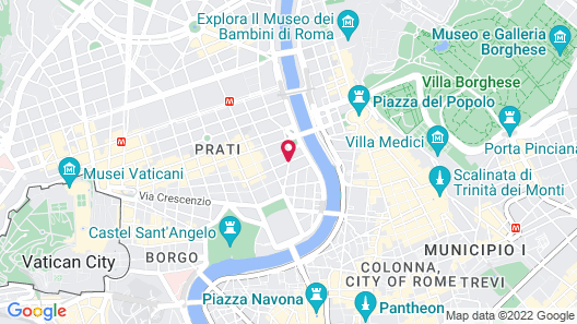 Le Méridien Visconti Rome Map