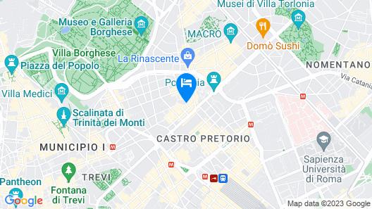 Roma Veneto Relais Map