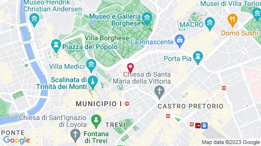 Sofitel Rome Villa Borghese Map