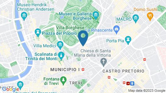 Rome Marriott Grand Hotel Flora Map