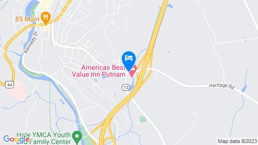 Americas Best Value Inn Putnam Map