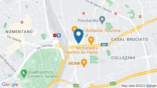 Suites Roma Tiburtina Map