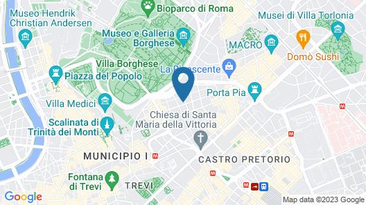 Villa Pinciana Map