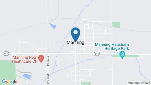 Cobblestone Inn & Suites - Manning Map