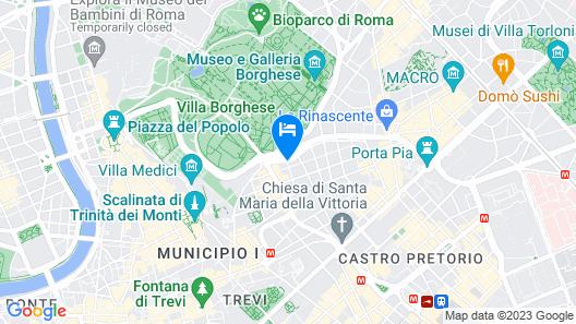 Hotel Victoria Roma Map