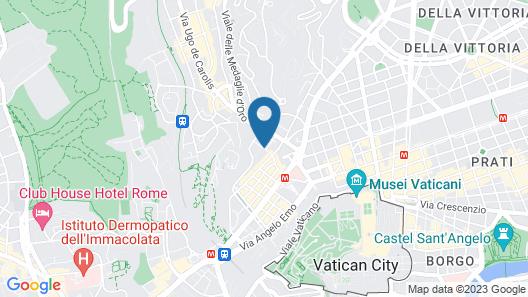 Vatican Rooms Accomodation Map