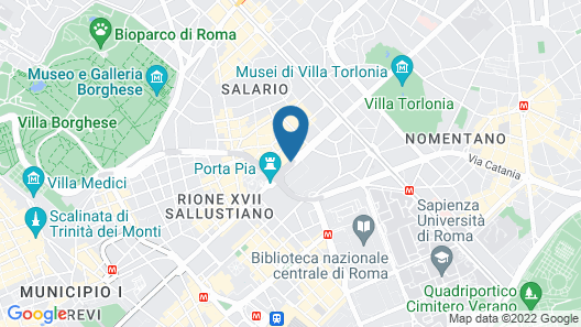 Turner Hotel Rome Map