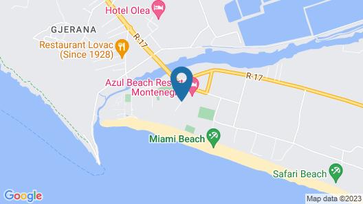 Azul Beach Resort Montenegro by Karisma Map