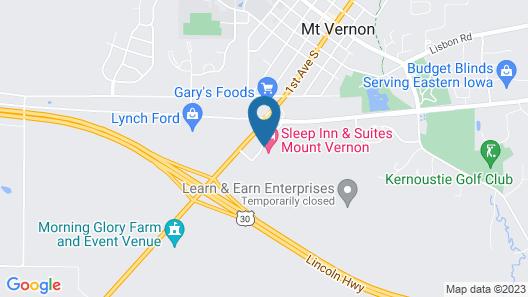 Sleep Inn & Suites Mount Vernon Map