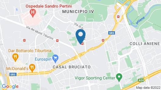 B&B Hotel Roma Pietralata Tiburtina Map