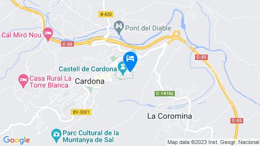 Parador de Cardona Map