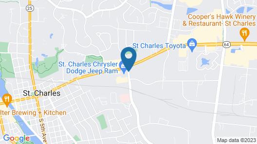 Geneva Motel Inn Map