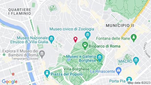 Aldrovandi Villa Borghese Map