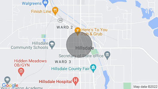 Private Apartment in Historical Downtown Hillsdale Map