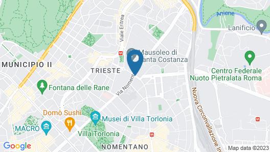 Hotel Santa Costanza Map