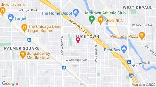 Ray's Bucktown Bed and Breakfast Map