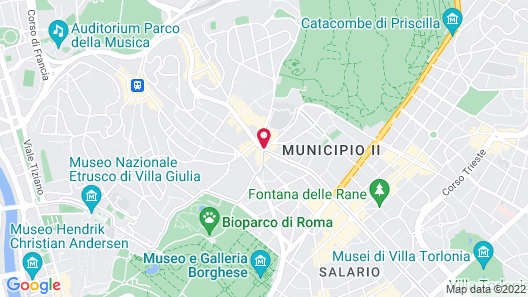 Hilton Garden Inn Rome Claridge Map