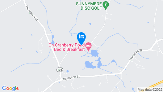 On Cranberry Pond Bed and Breakfast Map