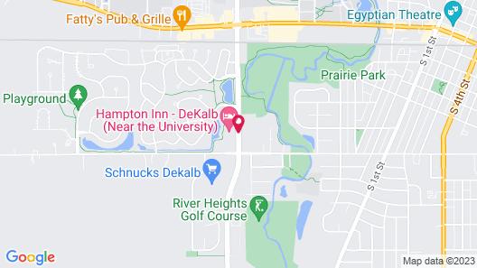Hampton Inn DeKalb, IL Map