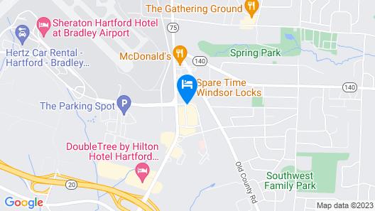 Motel 6 Windsor Locks, CT - Hartford Map