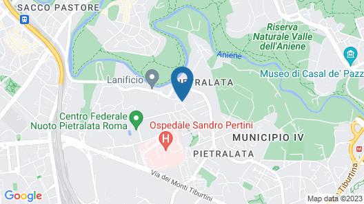 Quality Hotel Rouge et Noir Roma Map