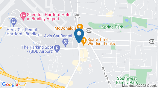 Candlewood Suites Windsor Locks Bradley Arpt Map