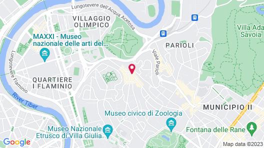 Radisson Blu GHR Hotel, Rome Map