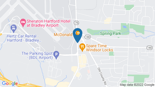Days Inn by Wyndham Windsor Locks / Bradley Intl Airport Map