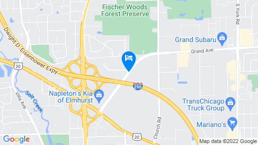 Extended Stay America - Chicago - Elmhurst - O'Hare Map