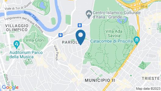 Hotel Villa Duse Map