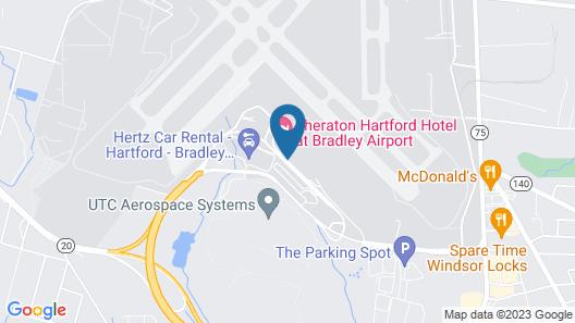 Sheraton Hartford Hotel at Bradley Airport Map