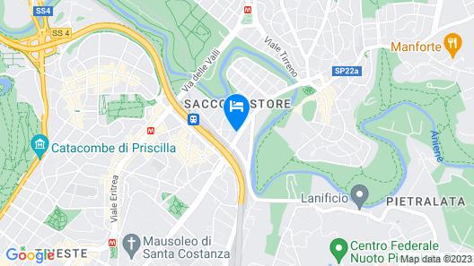 Art Hotel Noba Roma Map
