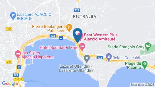 Best Western Plus Ajaccio Amiraute Map