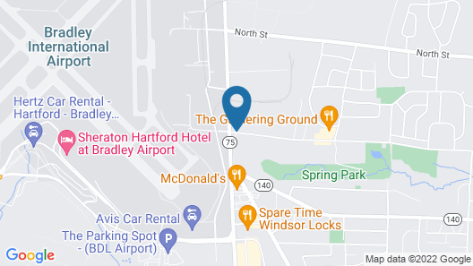 Holiday Inn Express & Suites Bradley Airport Map