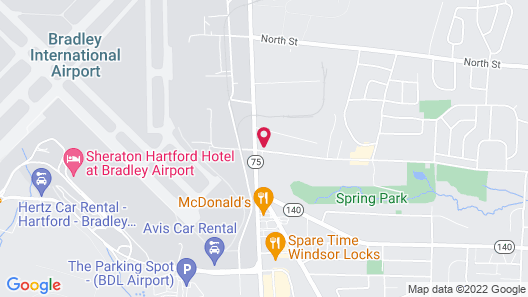 Holiday Inn Express & Suites Bradley Airport, an IHG Hotel Map