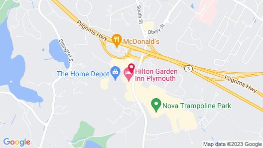 Hilton Garden Inn Plymouth Map