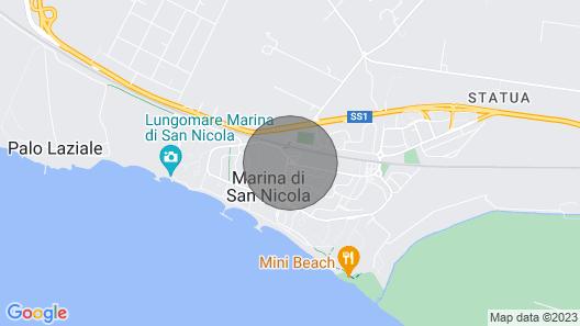 Beautiful apartment in Marina di San Nicola, near the sea and near Rome  Map