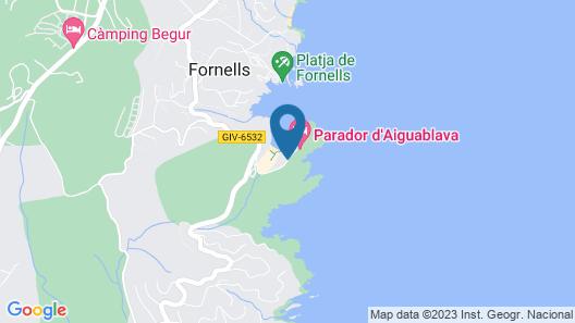 Parador de Aiguablava Map