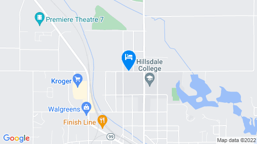 Hillsdale College Dow Hotel and Conference Center Map