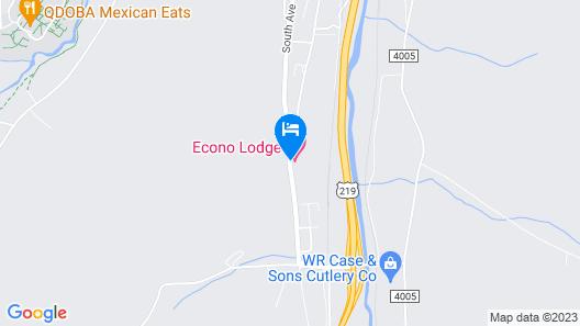 Econo Lodge Bradford Map